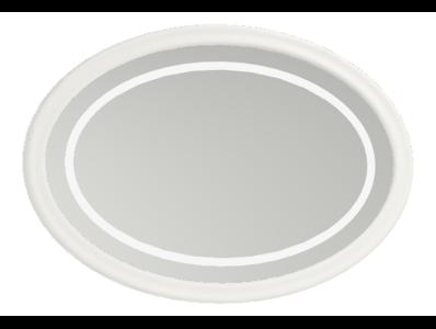 Elegance Illuminated Mirror, 100 cm, Matte White
