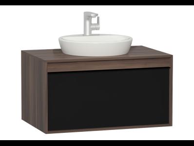 Metropole 80 cm Washbasin Unit, 1 Drawer, Plum