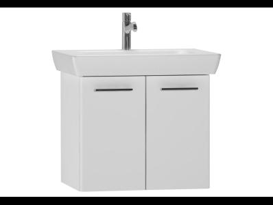 S20 Washbasin Unit 65cm, White High Gloss