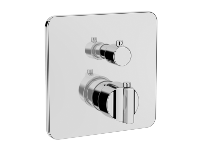 Suit Built-In Thermostatic Bath_Shower Mixer, V-Box-Exposed Part, Chrome