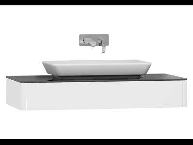 T4 Short Counter Unit 100 cm, White High Gloss