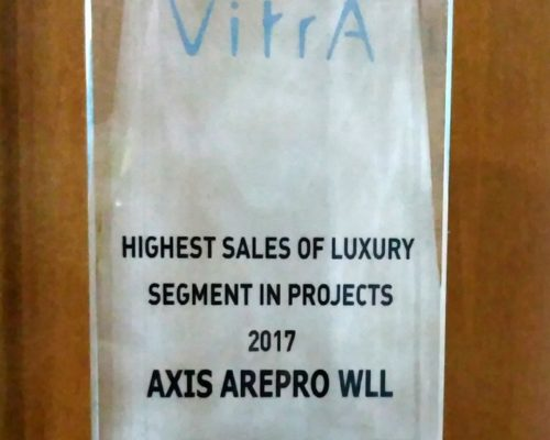Vitra - High Sales of Luxury Segment in Projects (1)- Achievement